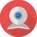 cam, camera, computer camera, live, video call, video camera, webcam icon