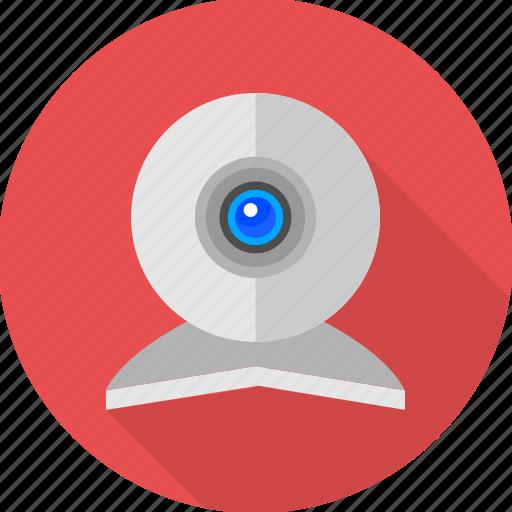 cam, camera, computer camera, live, video call, video camera, webcam icon