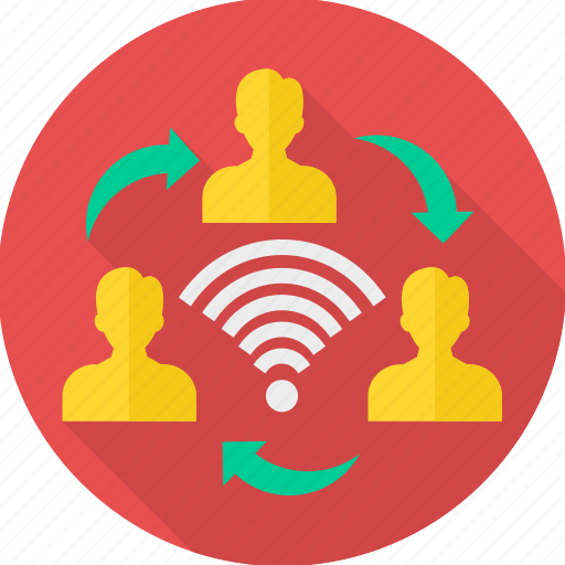 business, communication, connection, connectivity, group, network, office icon
