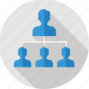 business, communication, group, hierarchy, structure, team, work icon