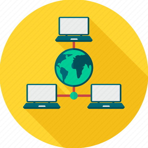 computer, connection, device, internet, network, office, sharing icon