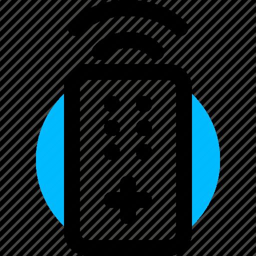 controller, remote, remote control, tv remote icon