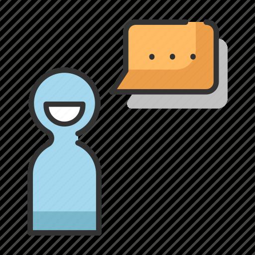 bubble, communication, message, people, speech, talk icon