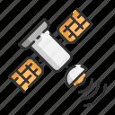 satellite, signal, speech, telecommunication icon