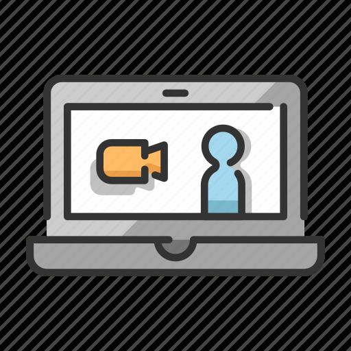 call, communication, speak, technology, video icon