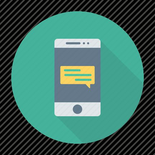 bubble, comment, mobile, notification icon