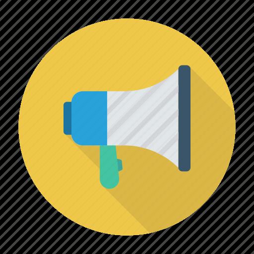 advertising, announcement, megaphone, speaker icon