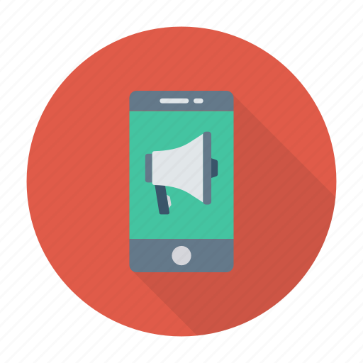advertising, announcement, marketing, mobile icon