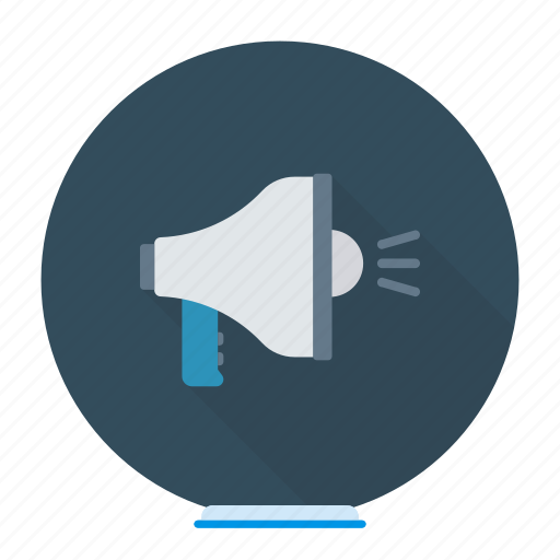 announcement, marketing, megaphone, speaker icon