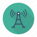 broadcast, signal, tower, transmission icon
