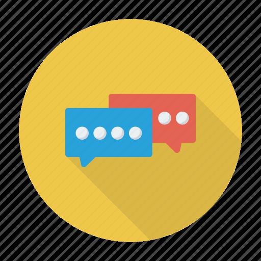 bubble, chat, conversation, discussion icon