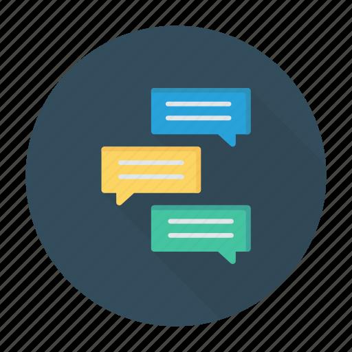 bubble, conversation, discussion, messages icon