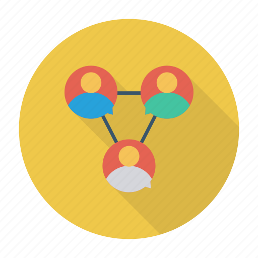 connections, managment, network, team icon