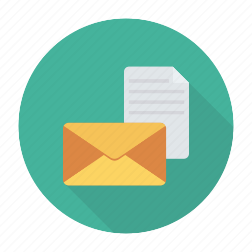 document, email, files, message icon