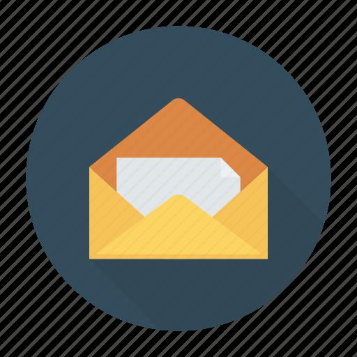employer, envelope, letter, message, open icon