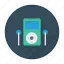 headphone, listening, music, sound icon