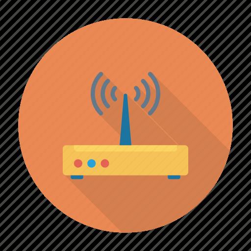 broadband, modem, router, wireless icon