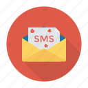 envelope, message, open, sms icon