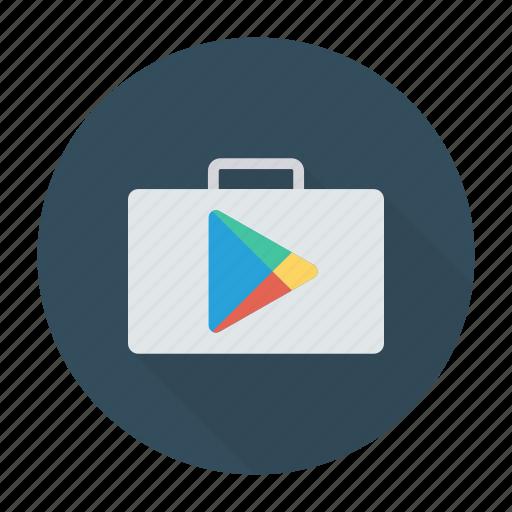 appstore, googleplay, googlestore, playsign icon