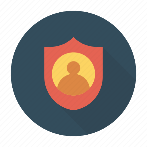 profile, protection, security, shield icon