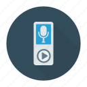 audio, device, recorder, voice icon