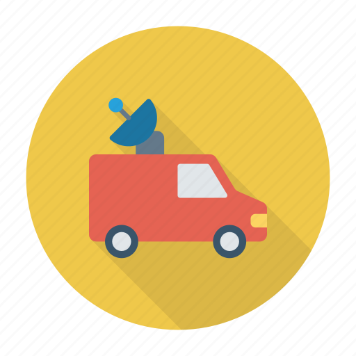 press, transport, van, vehicle icon