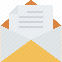 envelope, mail, message, open icon