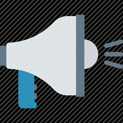 announcement, marketing, megaphone, speaker icon
