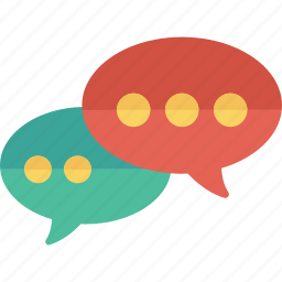 bubble, chat, conversation, message icon