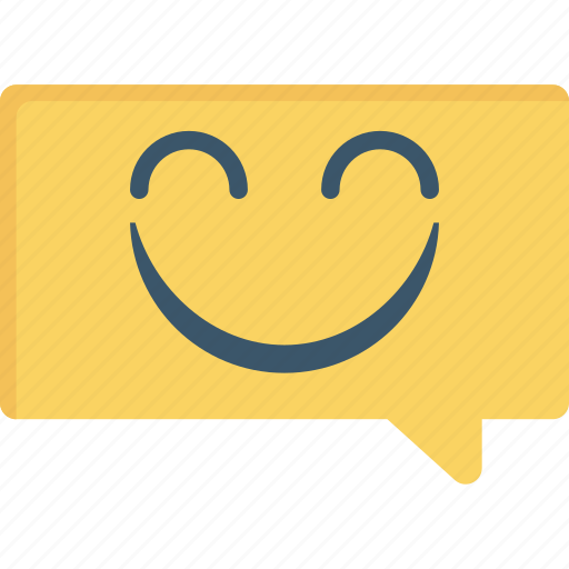 Alert, bubble, notification, smile icon - Download on Iconfinder