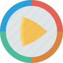 play, player, video icon