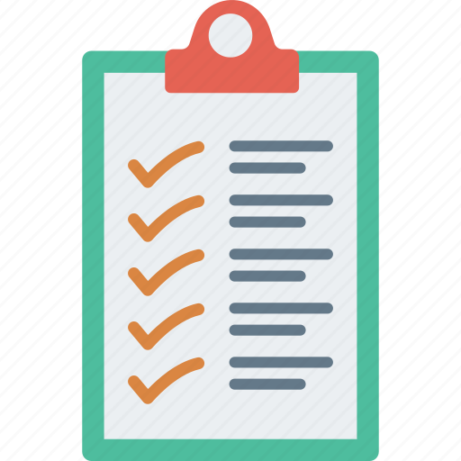 checklist, clipboard, document, survey icon