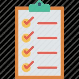checkmark, clipboard, report, survey icon
