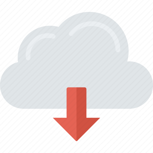 cloud, computing, connection, download icon
