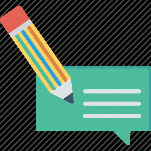 comment, create, message, write icon