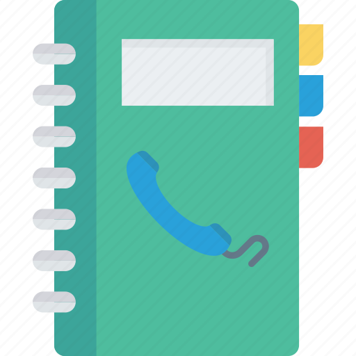 call, contacts, diary, phonebook icon