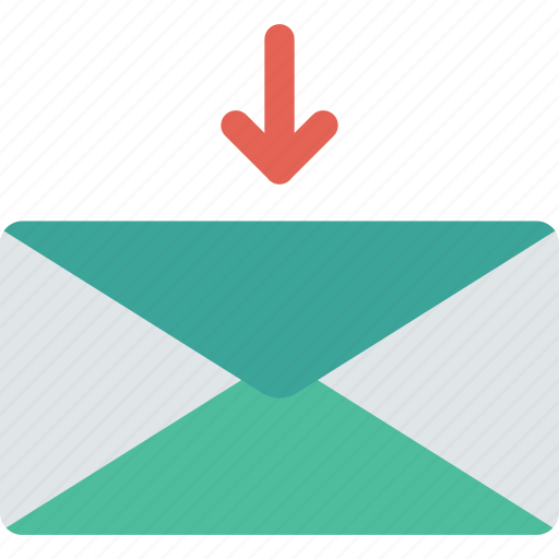 download, inbox, mail, save icon