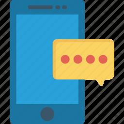 bubble, message, mobile, notification icon