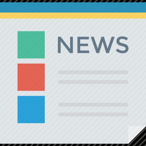 newsletter, newspaper, press, reading icon