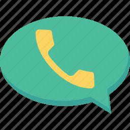 alert, bubble, call, notification icon