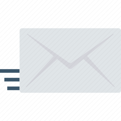e, fast, mail, message, sending icon