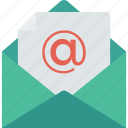 email, envelope, mail, open icon