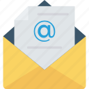 email, mail, messege, open icon