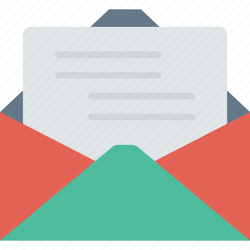email, inbox, message, open icon