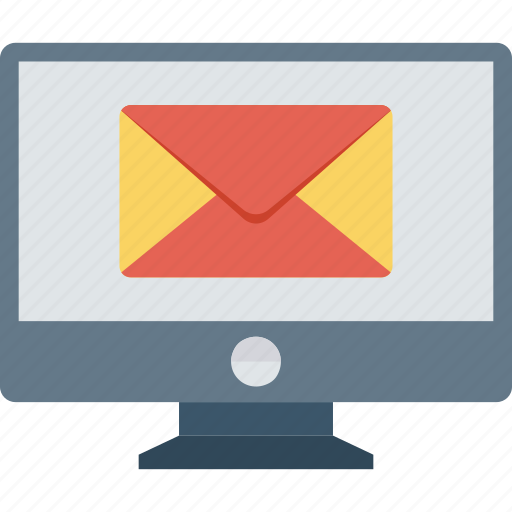 email, mail, message, screen icon