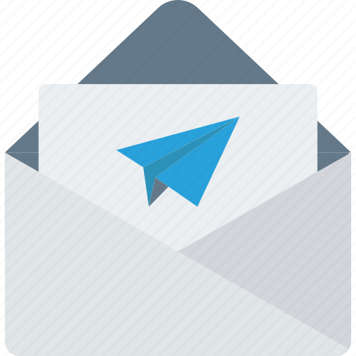email, letter, message, send icon