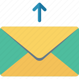 email, mail, message, upload icon