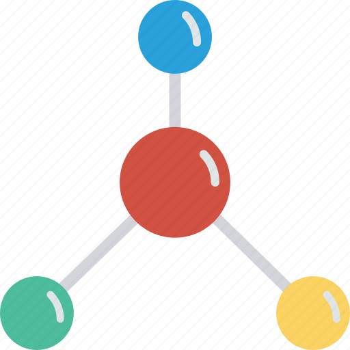 computing, connections, graph, network icon