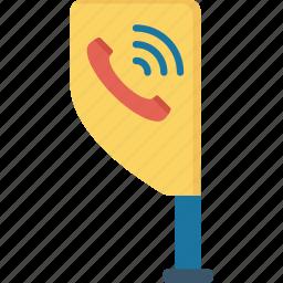 banner, board, call, services icon