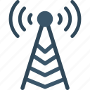 broadcast, communication, signal, tower icon